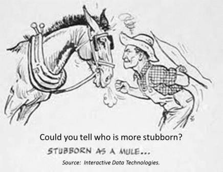 Can you tell, who comes across as more stubborn?